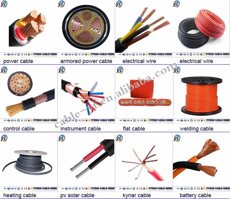 Different Types Of Copper Conductor Bvr Electrical Cable Wire ...