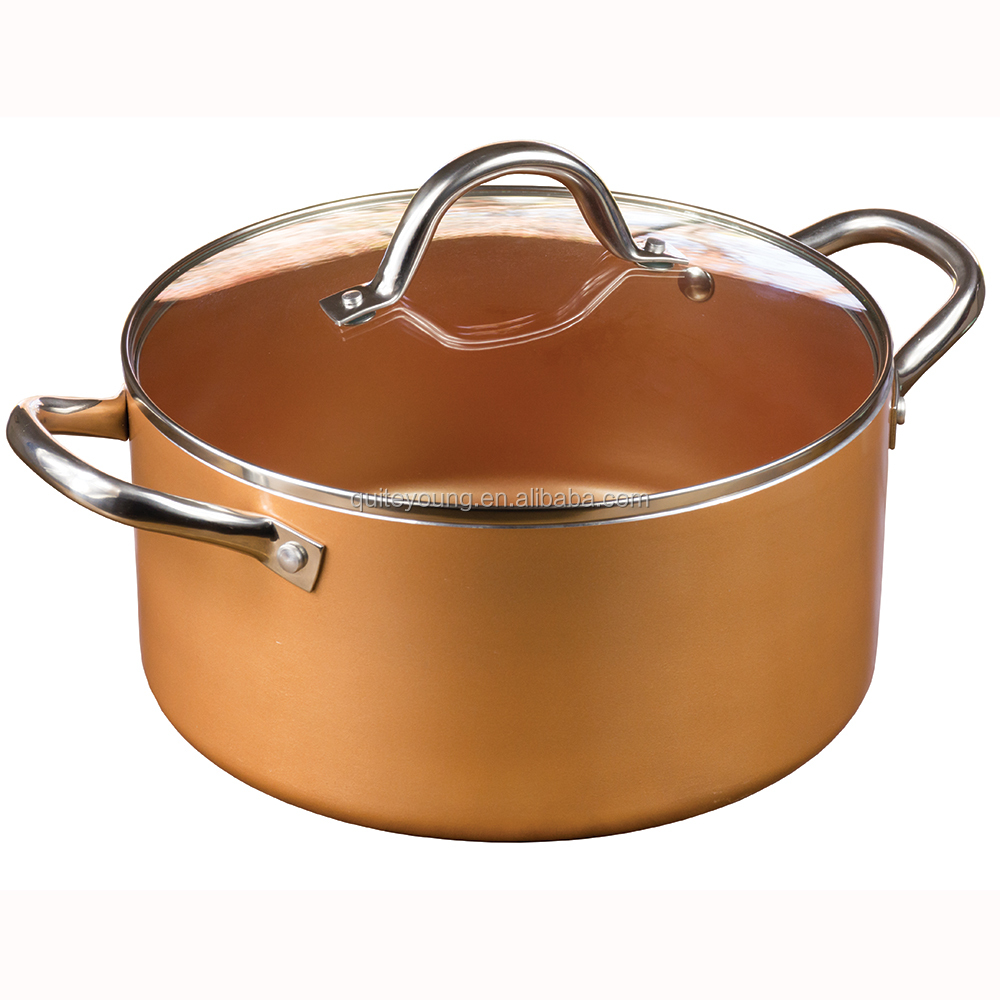 Copper Cookware 5qc Dutch Oven with Glass Lid