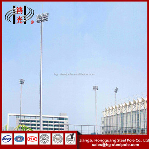 Stadium Lighting Mast Pole with Galvanization and Powder Coated for Square, Parking Lot and stadium