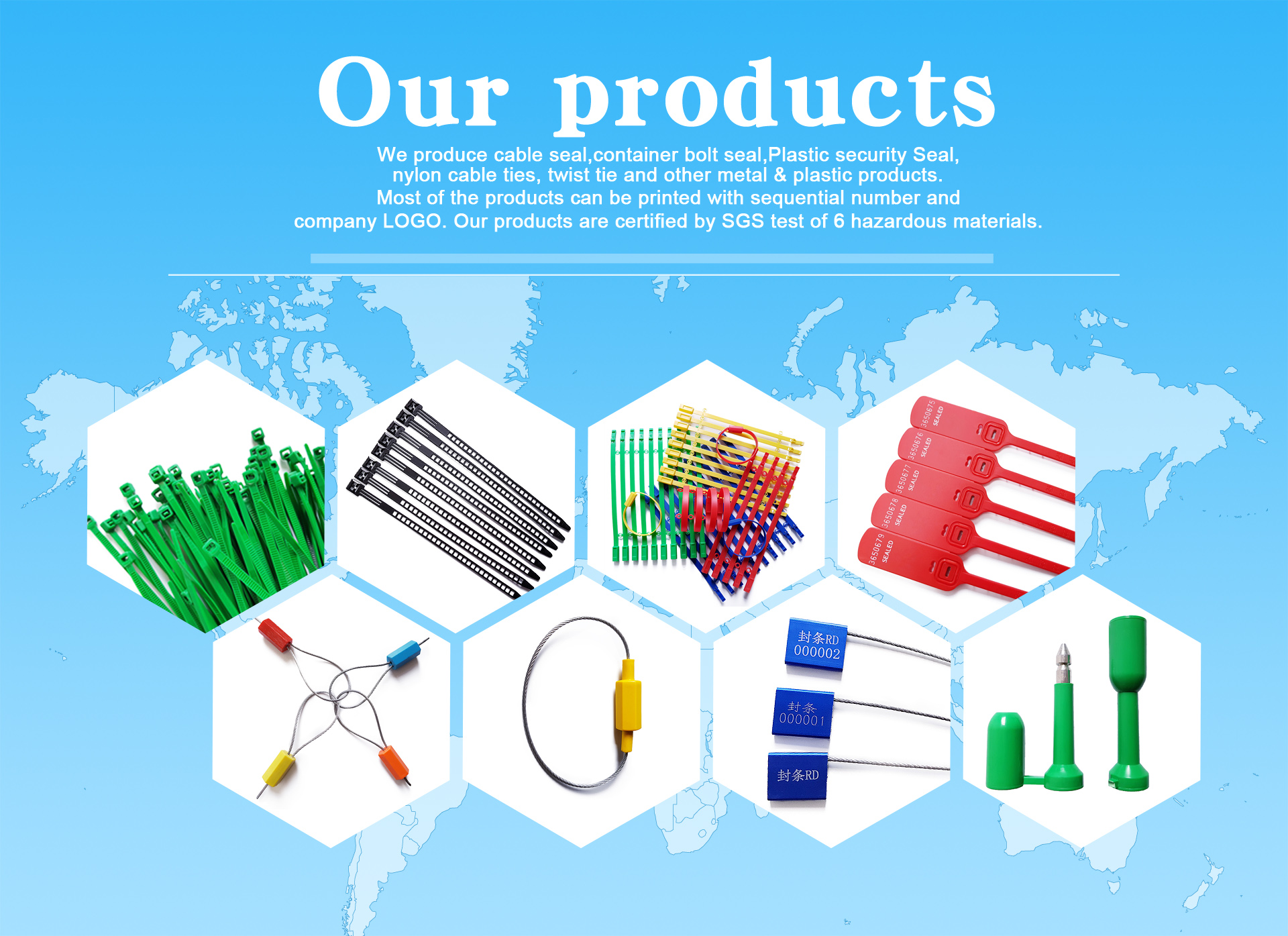 Guangzhou Wang Su Hardware Plastic Co., Ltd. - Cable Seal, Cable Tie