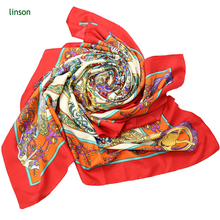 No MOQ Custom Digital Printed 14mm Silk Twill Scarf 100% Silk Head Scarf