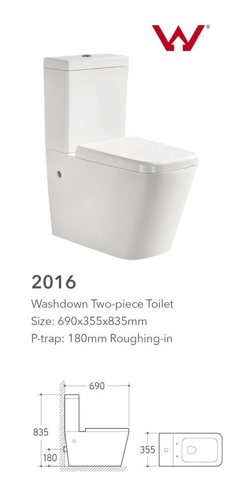 Foshan Washdown two piece toilet e w c water closet brands