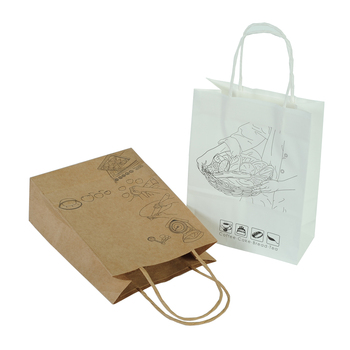 Fashion Printed Gift Kraft Brown Jewelry Paper Bag