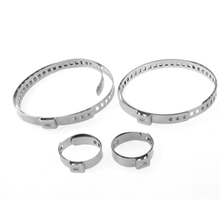 Manufacturer Sale! China Supplier !SUS201Stainless Steel single ear hose clamp for oil painting 17.8-21mm