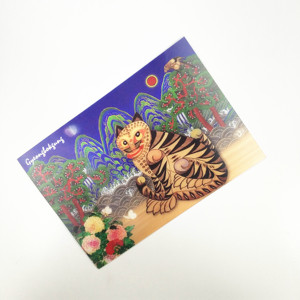 Decorative christmas gift 3d postcard with 3d D lenticular post card