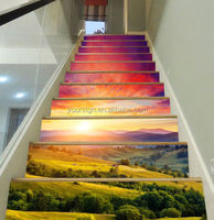 Custom Staircase Door Wallpaper Mural Printing