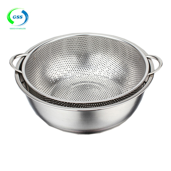 Whole China Long Handle Extra Large Colander With Small Hole