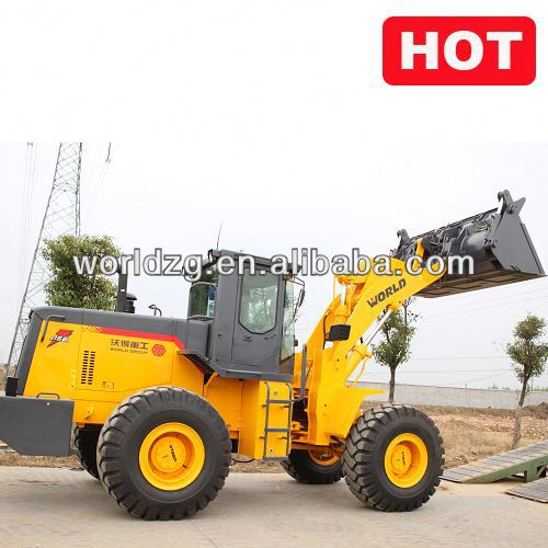 wheel loader contruction machine W156 with A/C,joystick and rock bucket