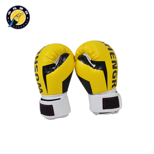 synthetic leather yellow boxing gloves sparring