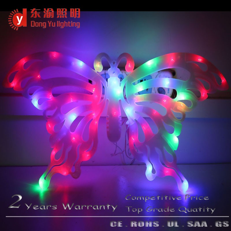 Novelty products of butterfly 3d change color effect acrylic fan night light