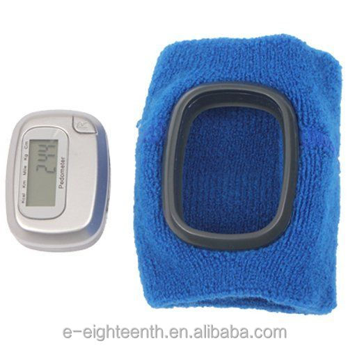 Generic Multifunctional Wristband Pedometer with LCD Display Blue Outdoor Sports