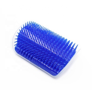Pet Grooming Tool Cat Self Groomer Wall Corner Cleaning Brush With Catnip