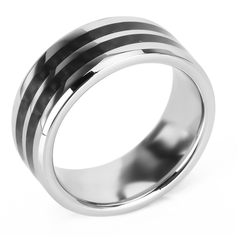 Wholesale Magnetic Man Blank Jewelry Black Men Titanium Ring