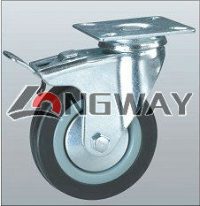 Shopping cart top plate all lock casters
