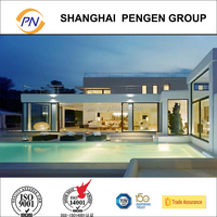modern luxurious prefabricated light steel frame structure prefab villa/resort for sale
