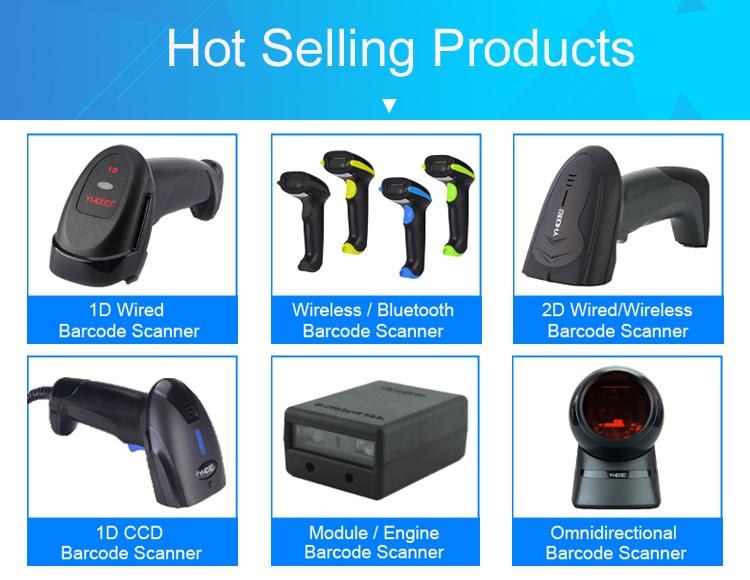 Price Checker 2D Bluetooth Wireless Barcode Scanner QR 2D Check Goods Price
