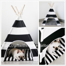 Dog Teepee Wooden House For Pet Dog Cat