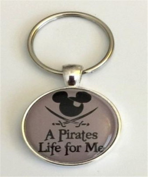 Keychain A Pirates Life For Me Caribbean Mickey Icon Pirates