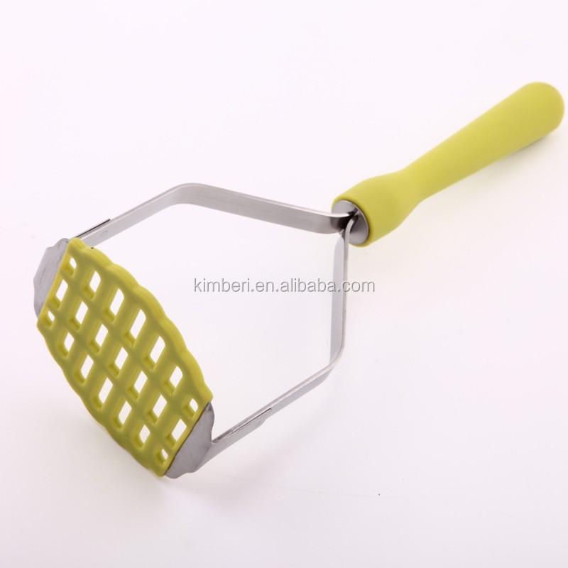 De calibre pesado de acero inoxidable patata prensa con mango pp utensilios para frutas y - Prensa patatas ...