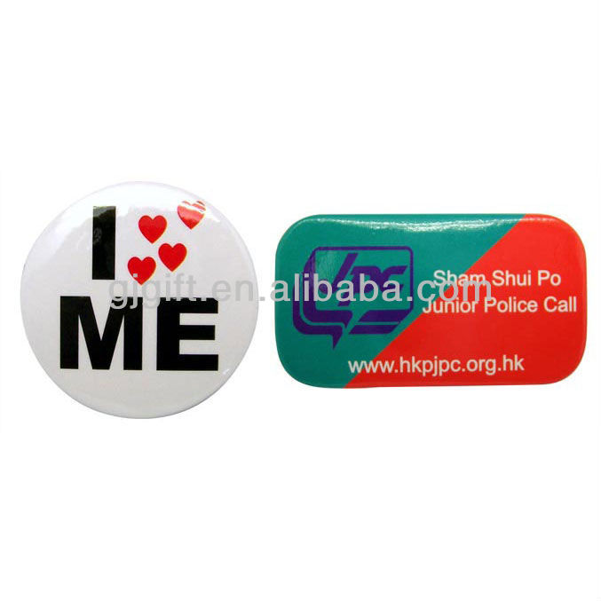 2015 new custom shape kids magnetic button badge