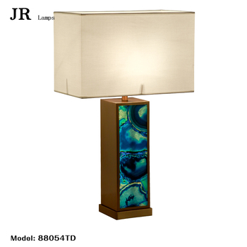 Lava Lamp Agate Table Lamp Home Stainless Steel For Hotel Home Decor Modern  Collectibles Indoor Lighting