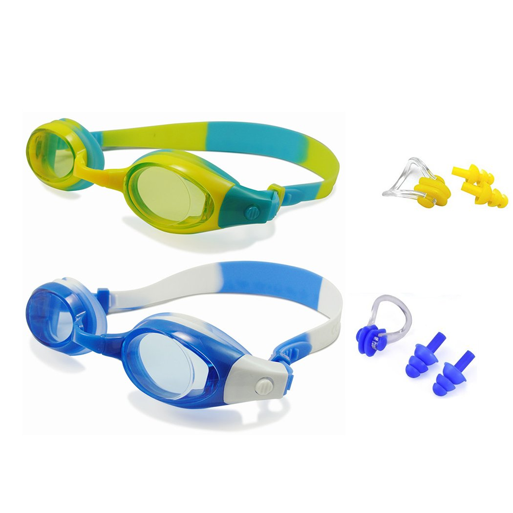 8b7e768a77fb Get Quotations · Kids Swim Goggles Pack of 2 Swimming Glasses for Children ( 3 to 15 Years Old