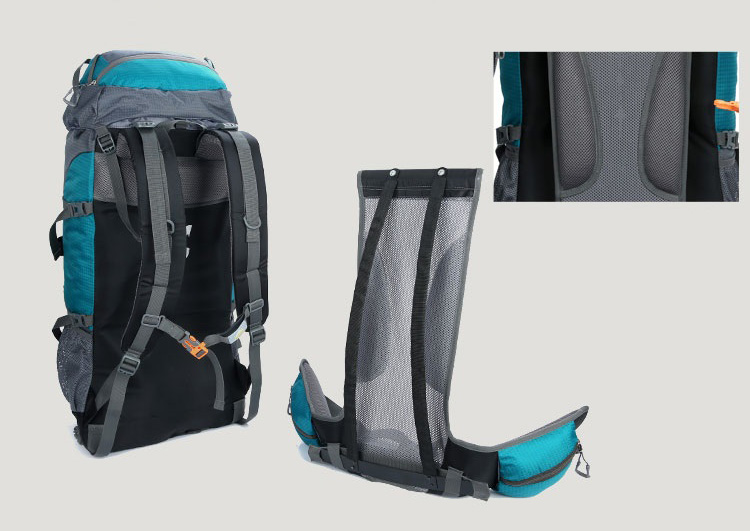 Premium quality Mountain waterproof travelling outdoor Sports hiking bag trekking mountaineering backpack