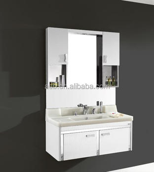singapore stainless steel mirror modern high glossy bathroom cabinet