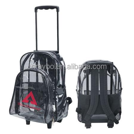 Clear Rolling Backpacks Wheels | Cg Backpacks