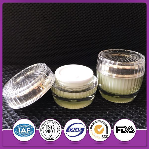 Acrylic Lotion jars cosmetic container &cream 250 ml beautiful crystal jar copy brand cosmetic jar