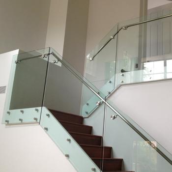 Granite Staircase Glass Railing Design For Frameless Glass Balustrade