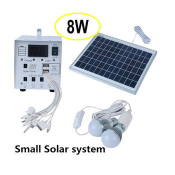 Meind 8W solar home kits ,solar panel 2W LED 4AH Battery work with USB fan,LED,mobile phone charging