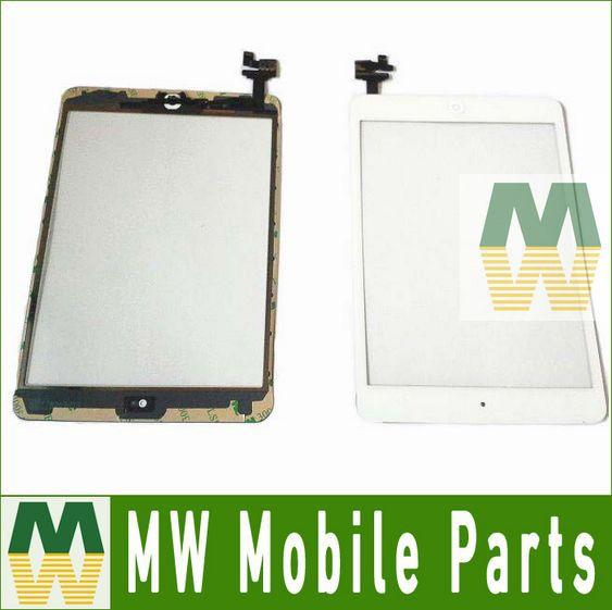 Черный белый цвет 1 шт./лот для Ipad Mini 1 с IC сенсорный экран планшета бесплатная доставка