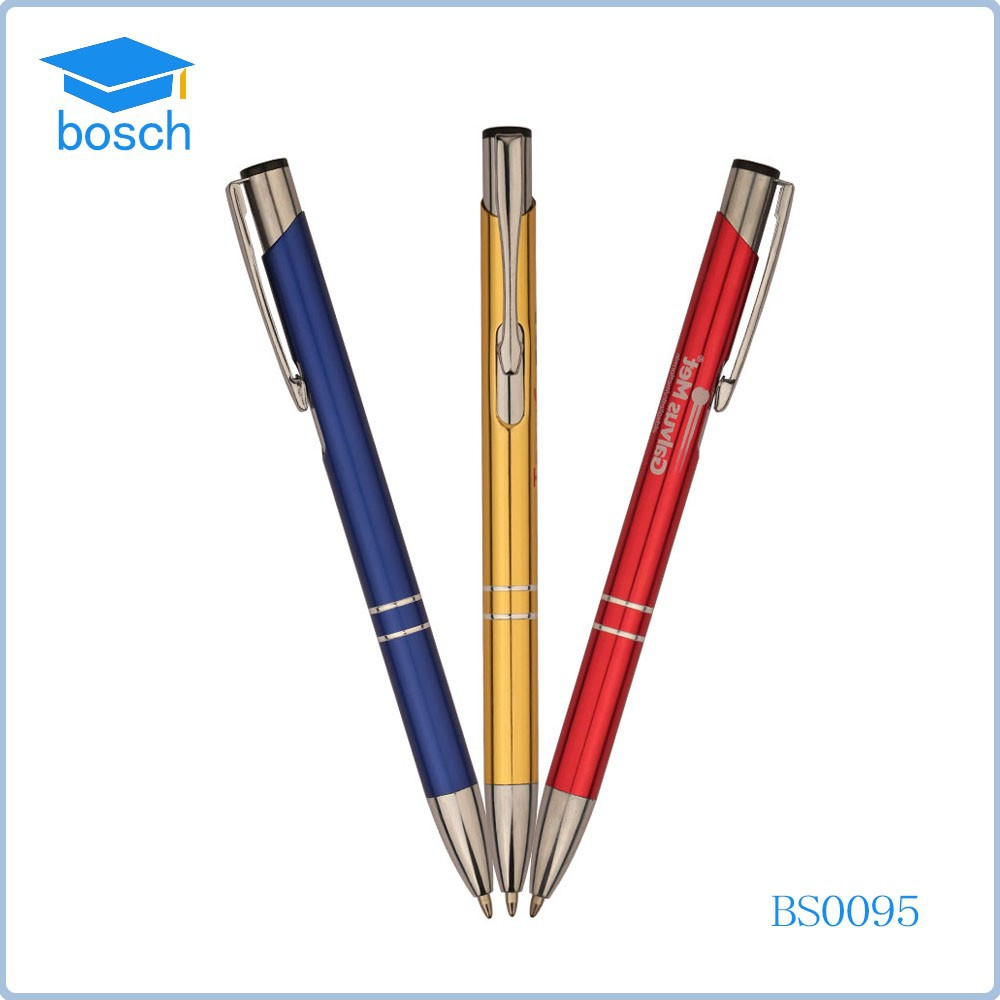 Office equipment personalized promotional ballpoint pen, hotel metal pen