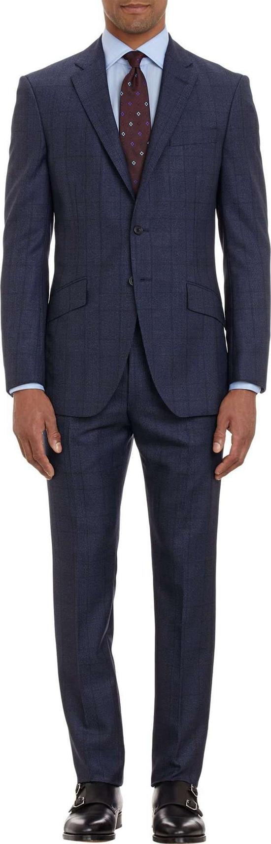 Slim Fit Tuxedo Men Suit 100%wool Men's Custom Suits Fashion Coat ...