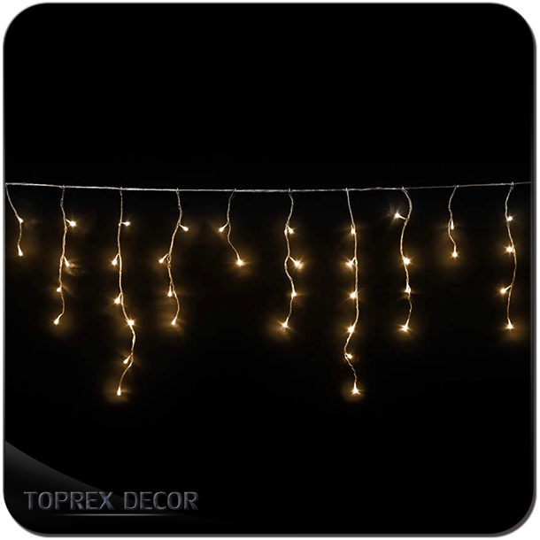 Snow Down Effect White Cable Long Led Icicle Fairy Lights