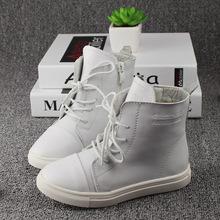 2016 High Grade Genuine Leather Children High Boots New Fashion Korean Style Non slip Kids boys