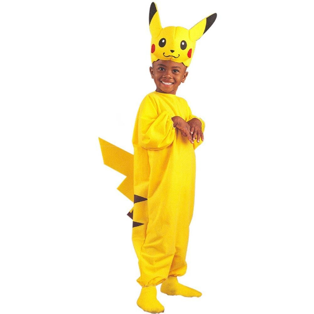 Kid's Pikachu Pokemon Costume (Size:Medium 4-6)