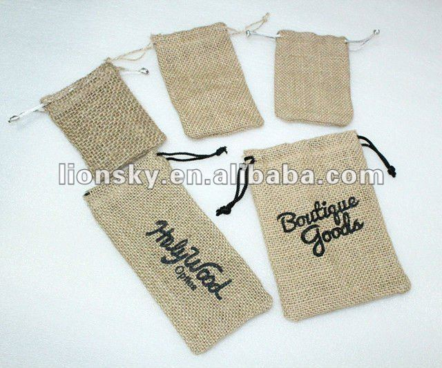 linen burlap bags sacks printing ink logo for promotion&packing