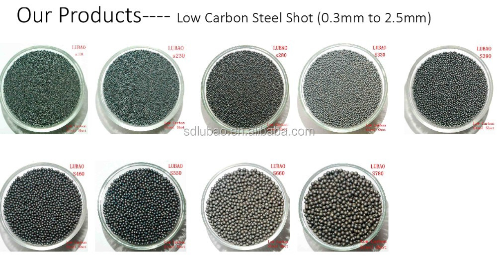 LUBAO Brand Low Carbon Steel Shot