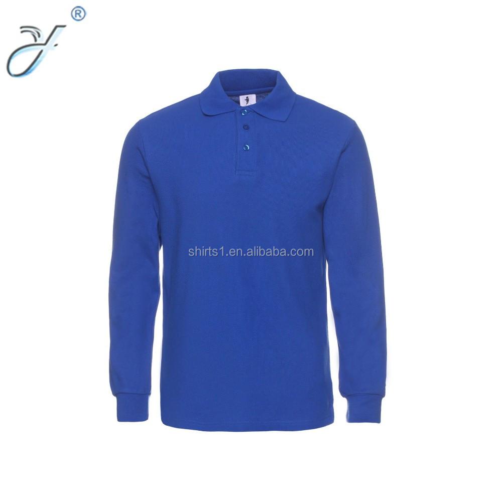 Custom Dry Fit Plain Color Long Sleeve Polo Shirt Business Polo Wear