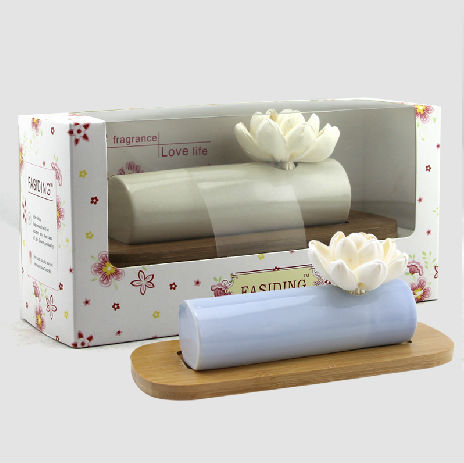 Special Noah's Ark Ceramic Holder with Sola Flower Diffuser Set TS-FD81