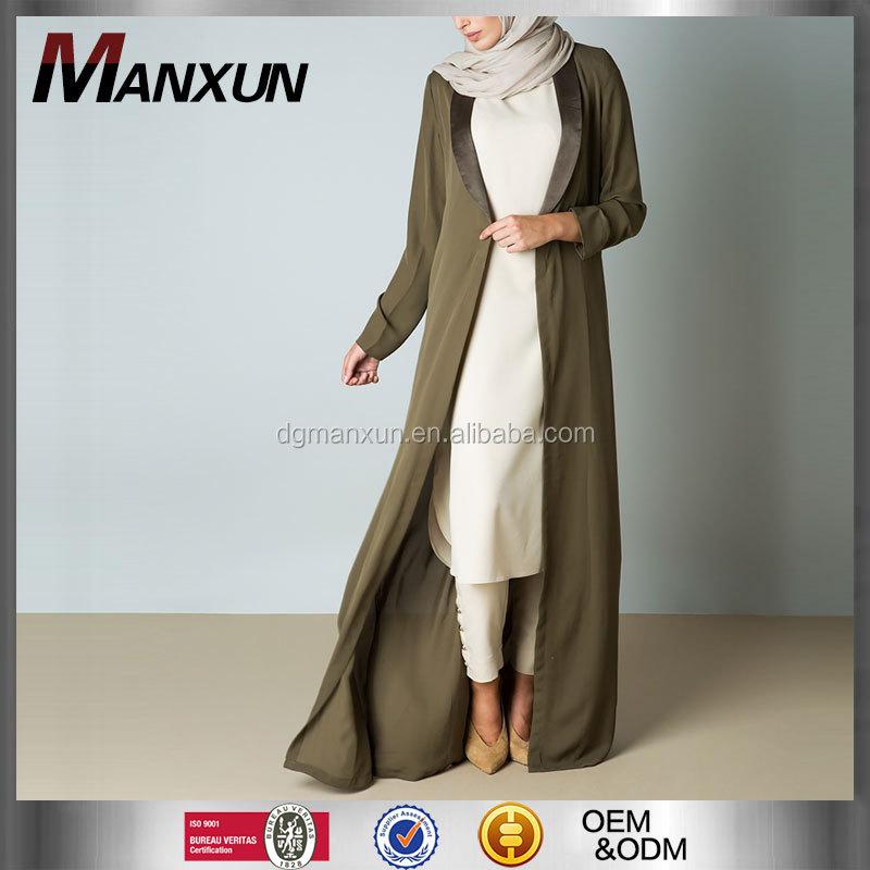 Dubai abaya groothandel dames gown olijf stofdoek jas for Islamitische sportkleding vrouwen