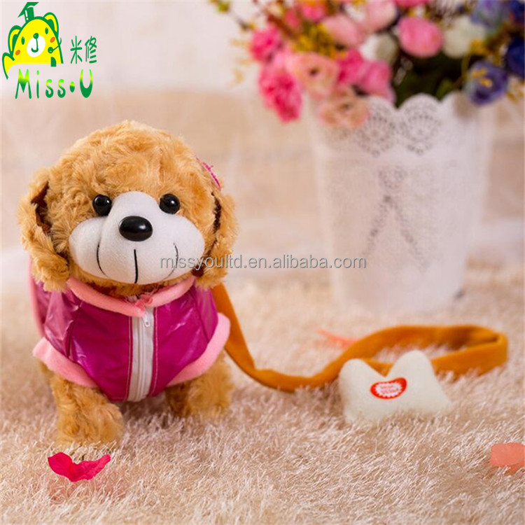 Wholesale Factory High Quality Cute Mini Plush Dog Electronic Toy For Children