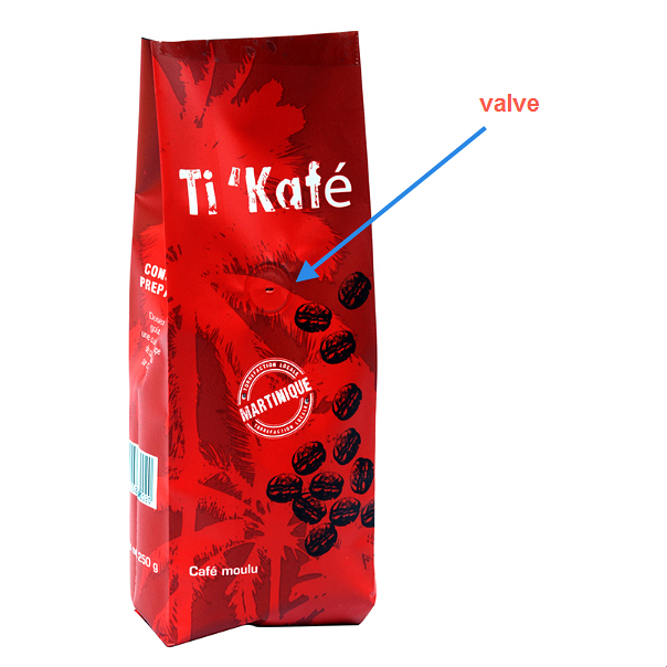 Custom Aluminum Foil Side Guesst Coffee Packaging Block Bottom Ziplock Bag Coffee Pouch With Valve