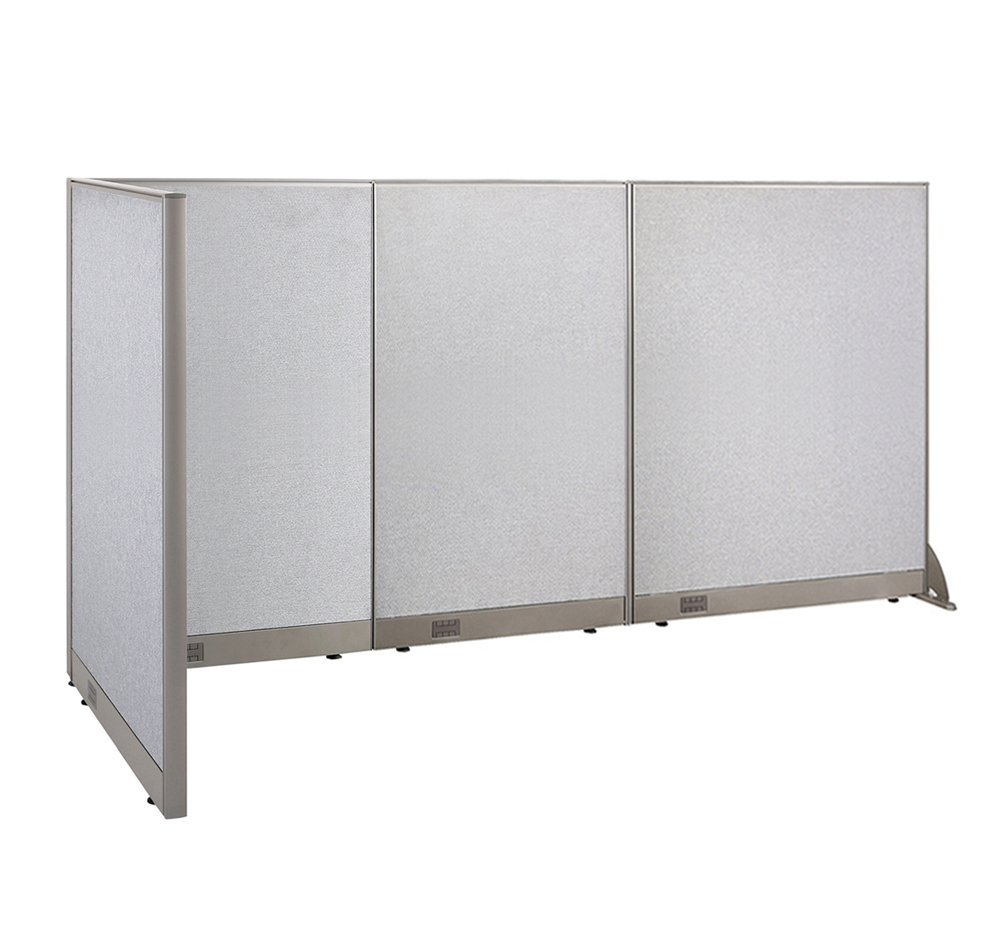 GOF L-Shaped Freestanding Partition 36D x 114W x 60H / Office, Room Divider 3' x 9.5' (36D x 114W x 60H)