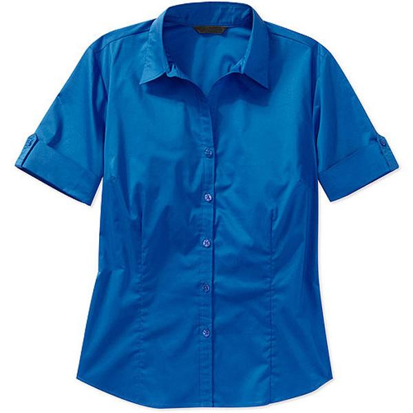 Ladies Short Sleeve Blouses For Office Uniform Blouse ...