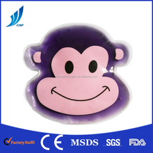 Low MOQ animal shaped monkey cat children hot and cold pack