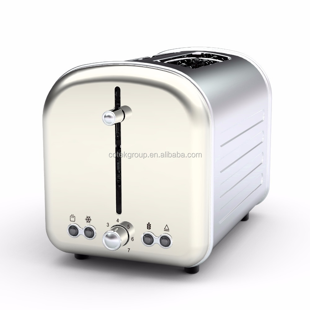 Pop-Up 2 slice toaster with electronic variable browning contol