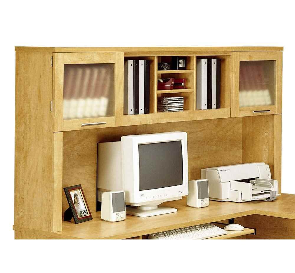 Bush Furniture Somerset Hutch For 70 Inch L Desk In Maple Cross